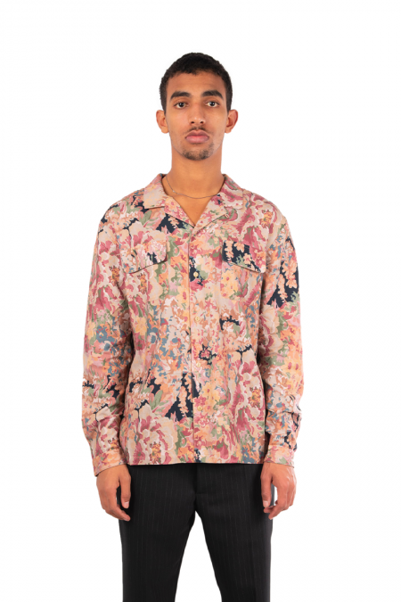 Floral feathers shirt