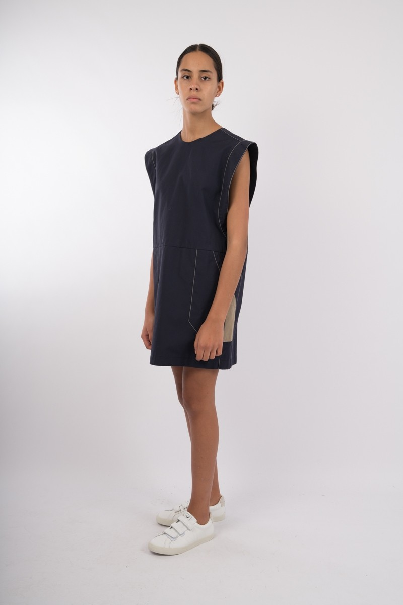 Pia Sleeveless Dress Anthracite