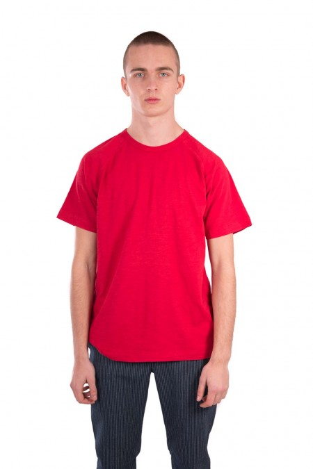 T-shirt tv raglan rouge