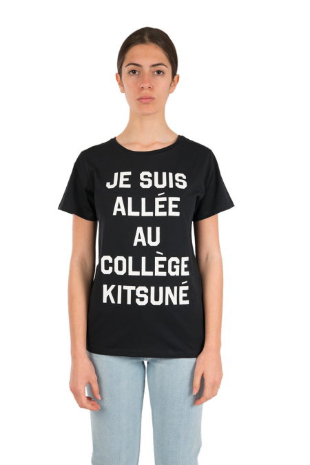 Black college t-shirt