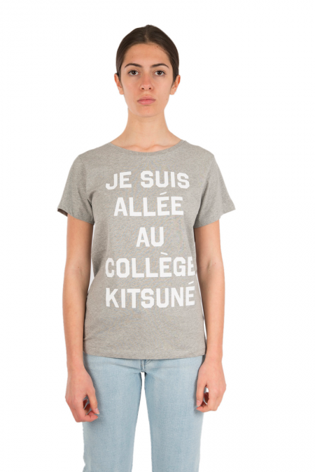 Grey college t-shirt