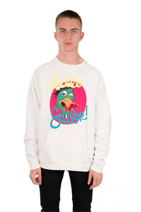White duck crewneck 101