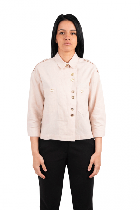 Pale pink cesary jacket