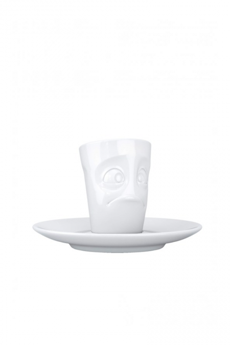 White puzzled expresso cup