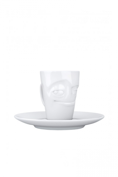White playful expresso cup
