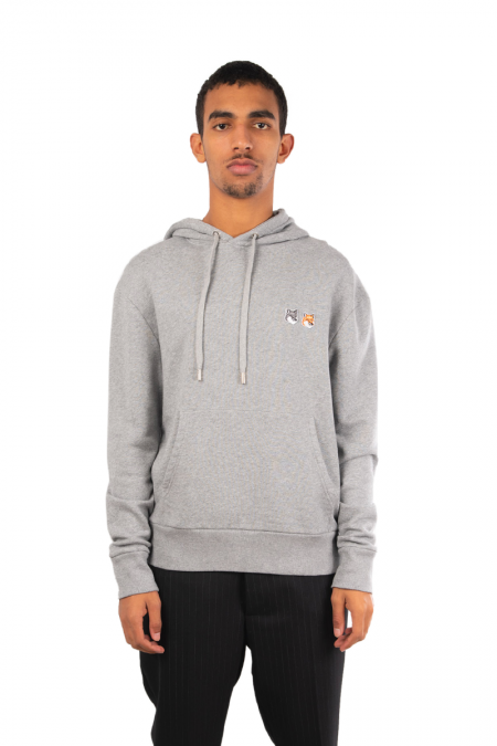 Hooded double tête renard gris