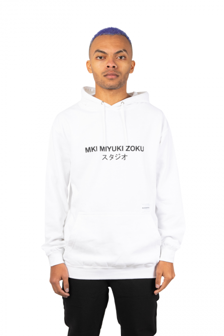 Hooded classique logo blanc
