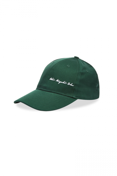 Green signature cap