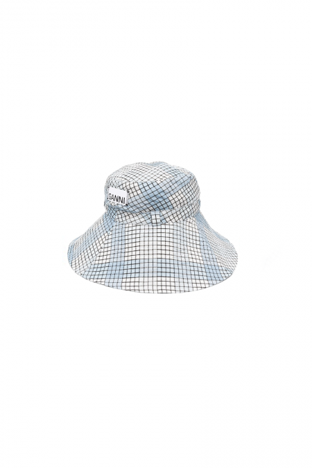 Light blue seersucker hat