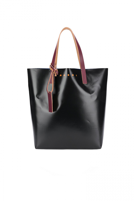 Black PVC tote bag