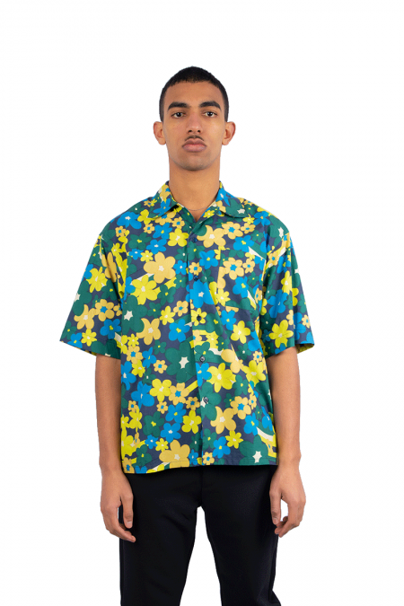 Yellow allover flower shirt