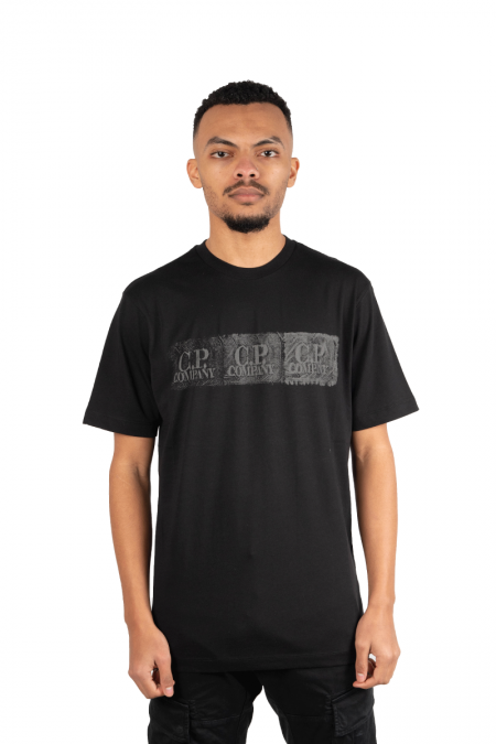 Black logo gradient t-shirt