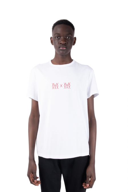 White mm t-shirt