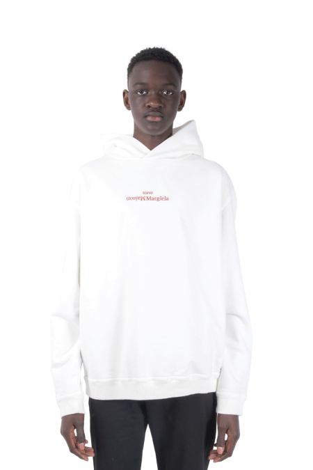 White reverse hooded
