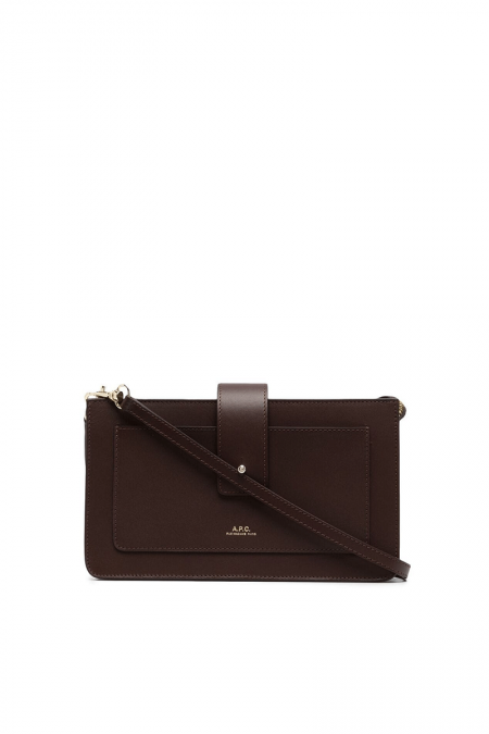 Brown clutch albane