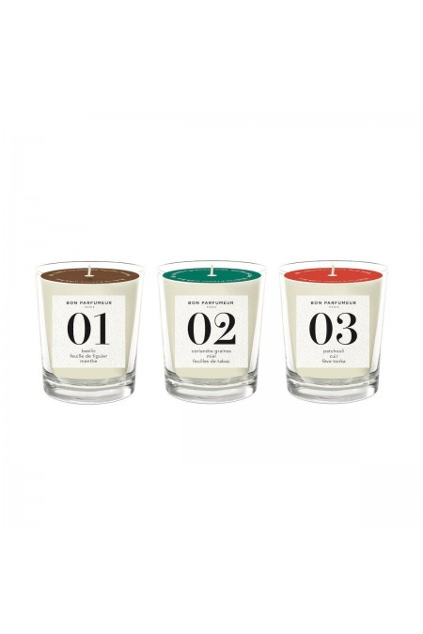 Coffret trio mini-bougies