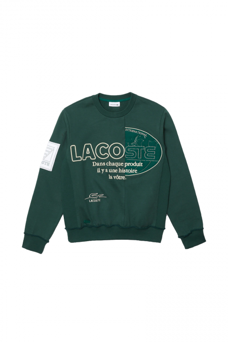 Green asymetrical crewneck