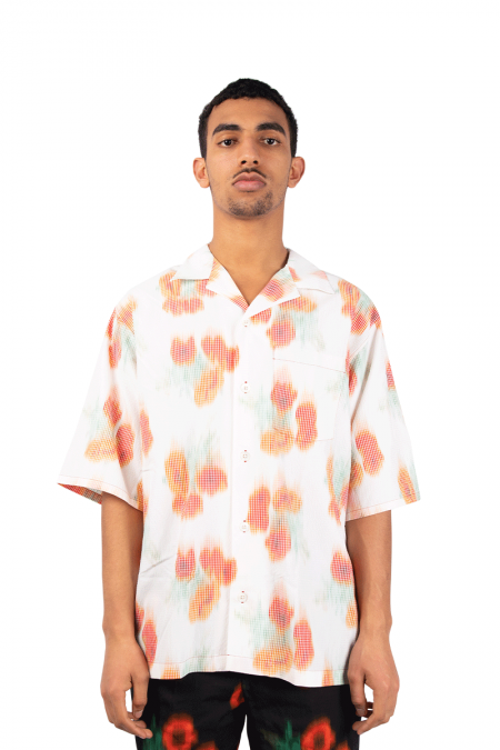 Chemise tie and dye coquelicot