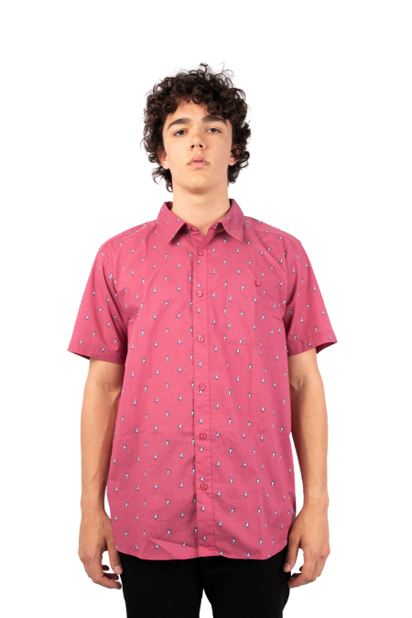 Pink full print shirt