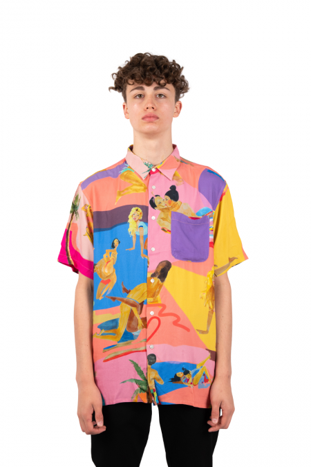 Multicolor abstract funk shirt