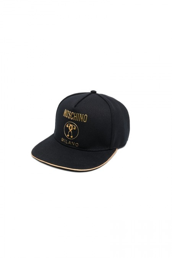 Gold question mark cap