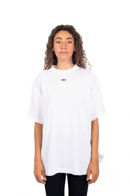 White rolled-up t-shirt