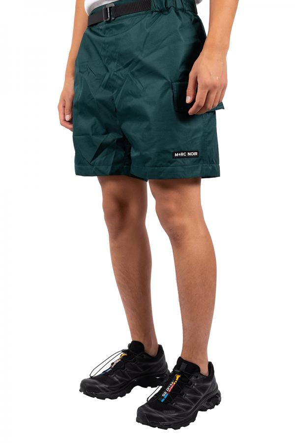 Cargo green nylon short