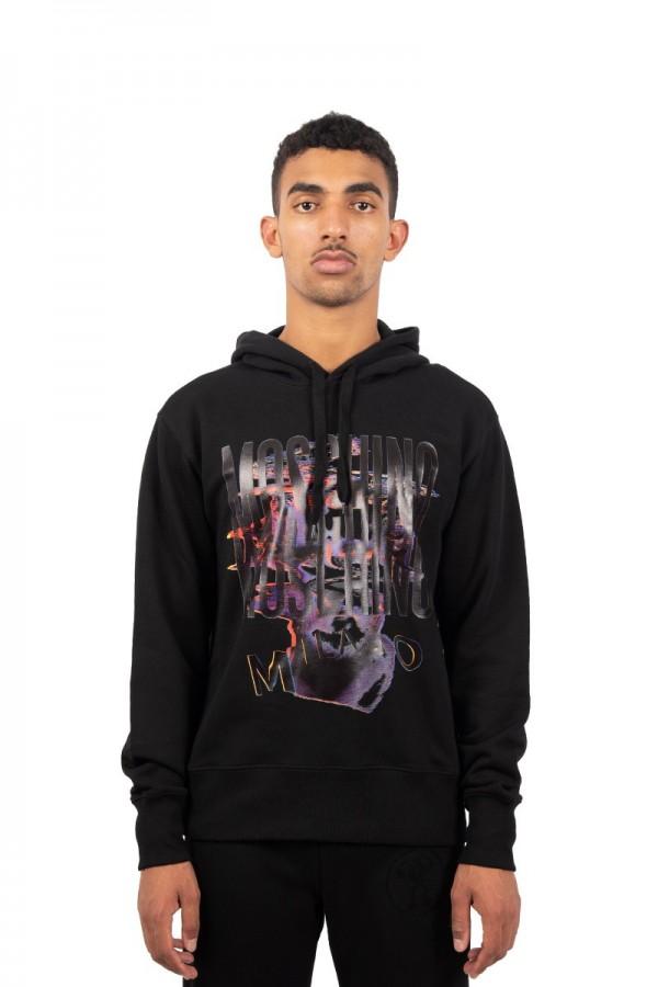 Black creation glitch hooded