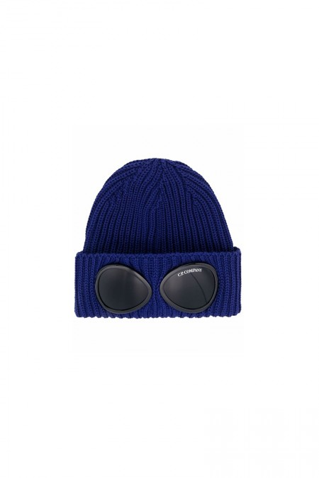 Double goggle hat blue