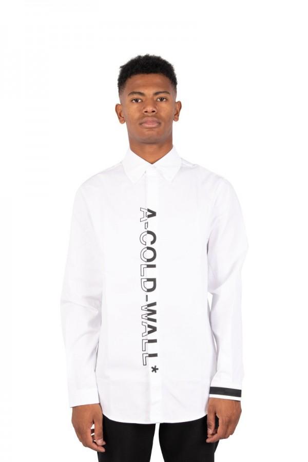White logo branded shirt