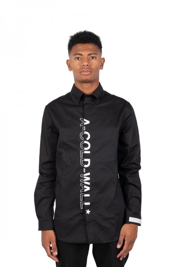 Chemise logo branded noir