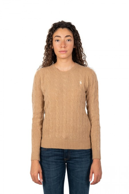Maille col rond camel